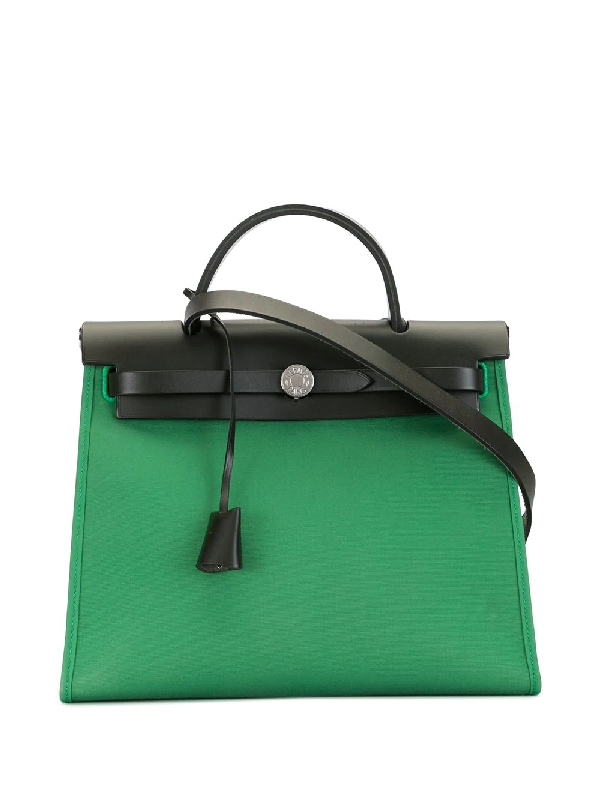 Hermes 2017 Pre-owned Her Bag Pm Two-way Bag In Green