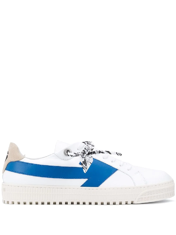 Off-white Low-top Sneakers Arrow Calfskin Logo White-combo