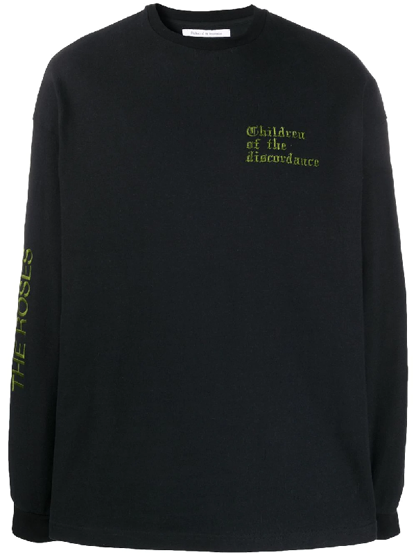 Children Of The Discordance Stop And Smell The Roses Sweatshirt In Black