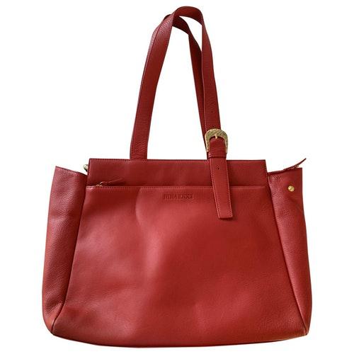Nina Ricci Red Leather Handbag