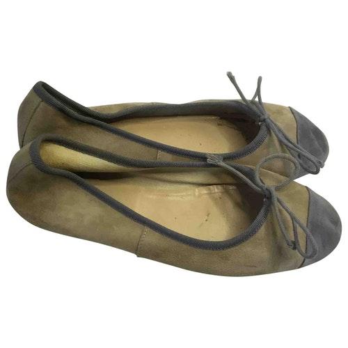 Danielapi Grey Leather Ballet Flats