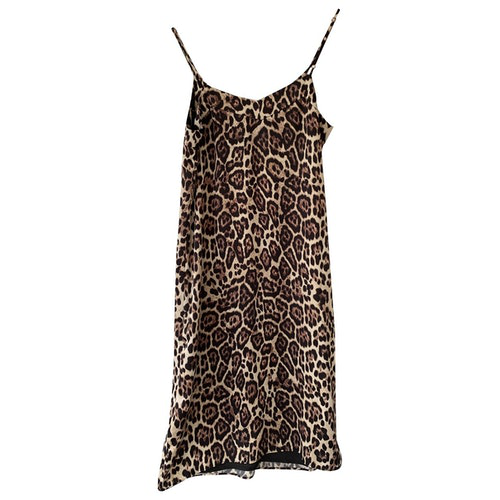 Equipment Brown Lace Dress
