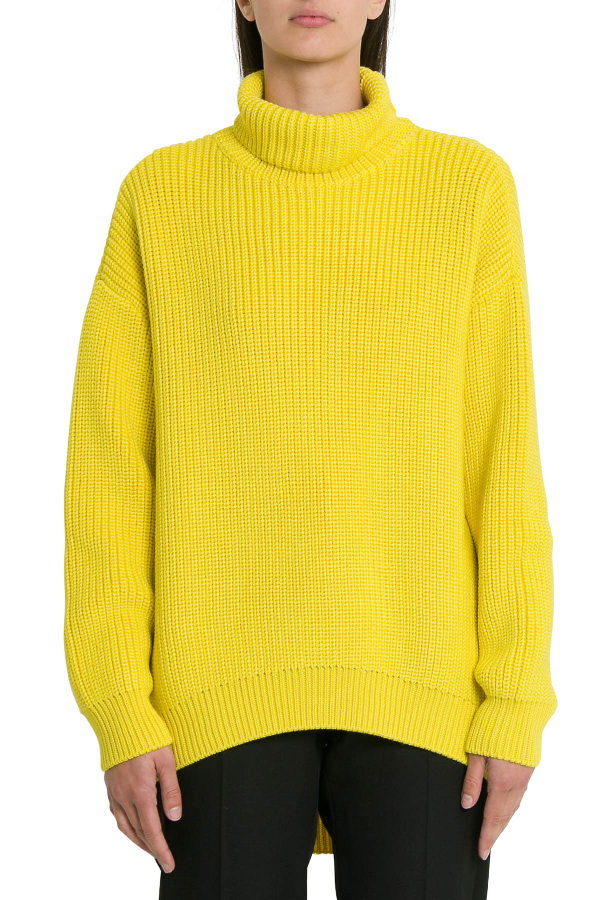 Givenchy Oversized Turtleneck In Yellow