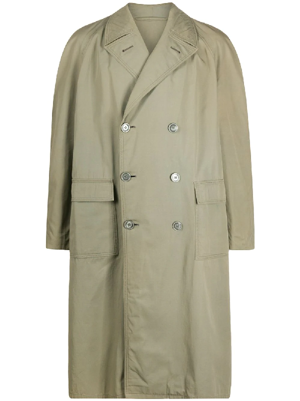 A.n.g.e.l.o. Vintage Cult 1950s Double-breasted Mid-calf Coat In Green
