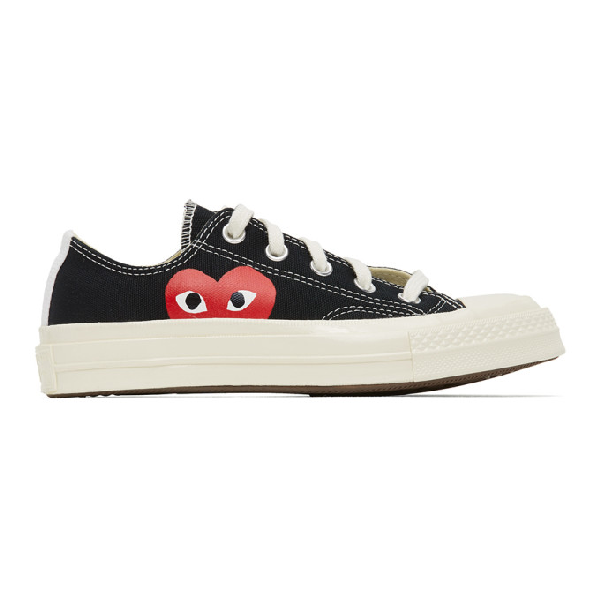Comme Des Garcons Play Black Converse Edition Half Heart Chuck 70 Low  Sneakers In 1 Black