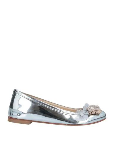 Pokemaoke Ballet Flats In Silver