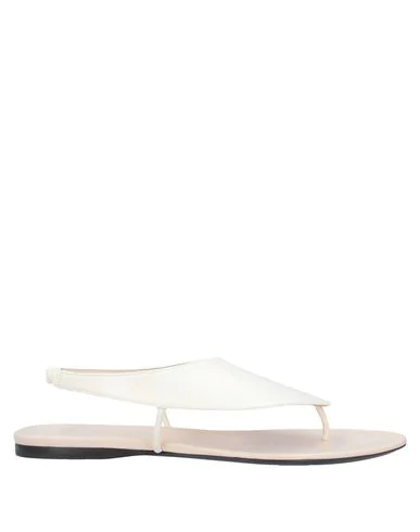 The Row Flip Flops In Ivory