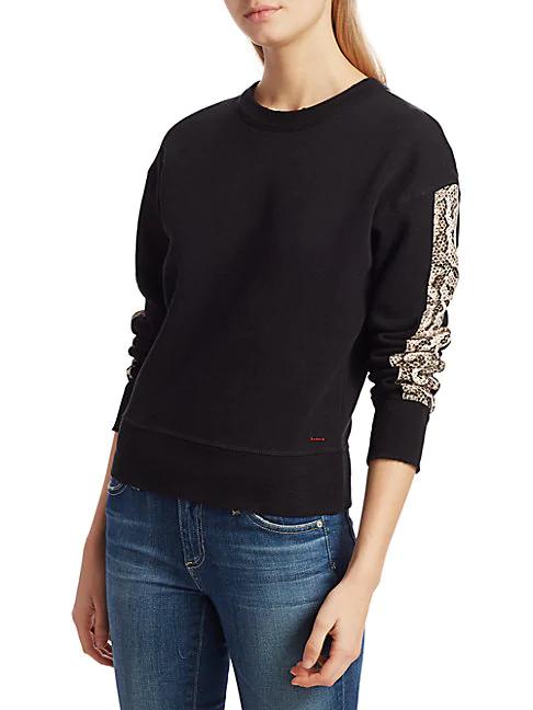 N:philanthropy Python Trim Sweatshirt In Sand Python Print