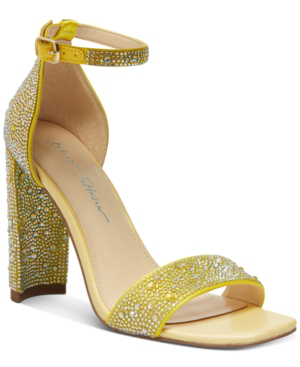Betsey Johnson Rina Dress Sandal Women's Shoes In Yellow