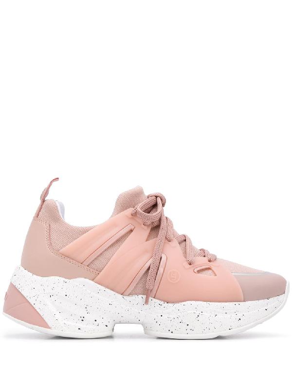 Liu •jo Platfrom Sole Sneakers In Pink