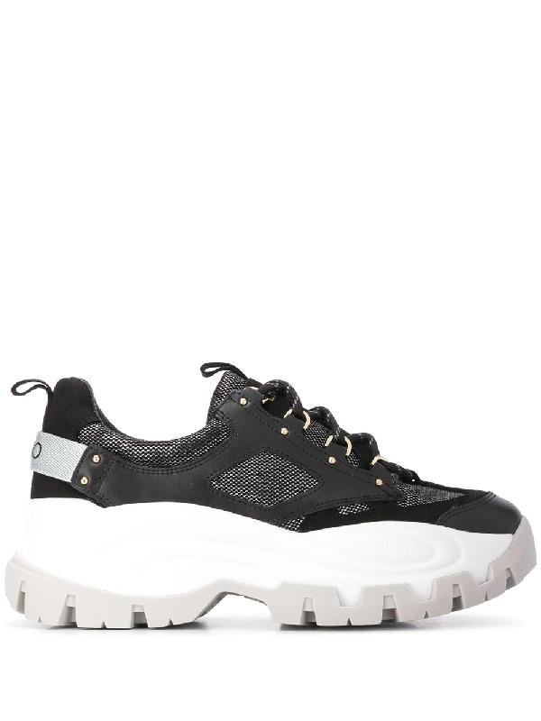 Liu •jo Platform Sole Sneakers In Black