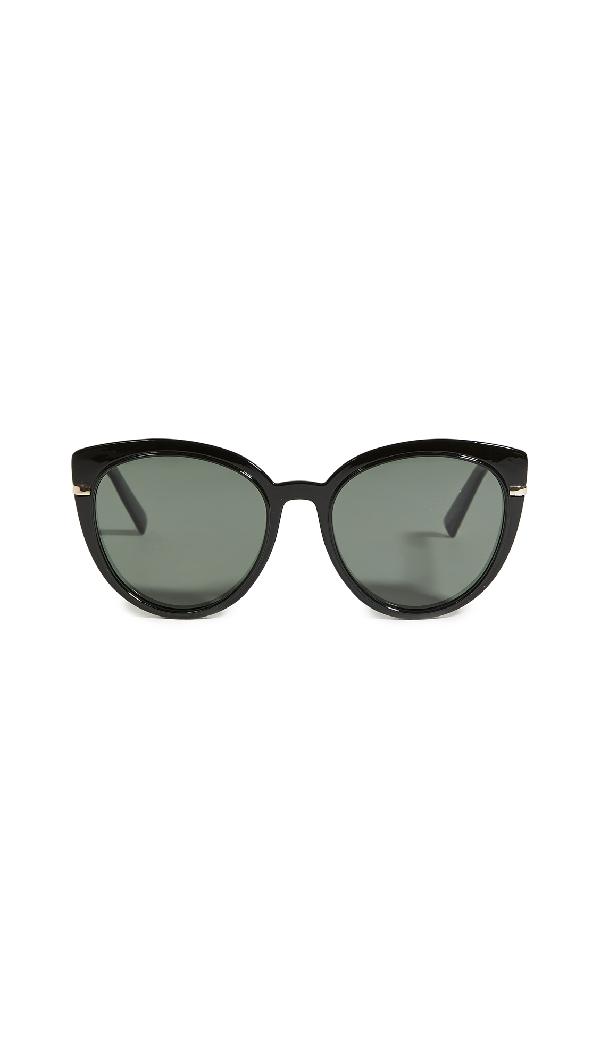 Le Specs Promiscuous Sunglasses In Black Khaki/mono