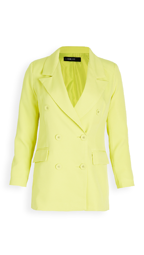 Lioness Don Jacket In Lime