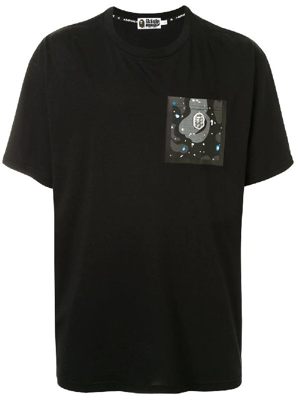 Bape Logo Pocket T-shirt In Black