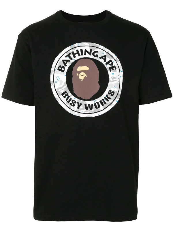 Bape 'busy Works' T-shirt In Black