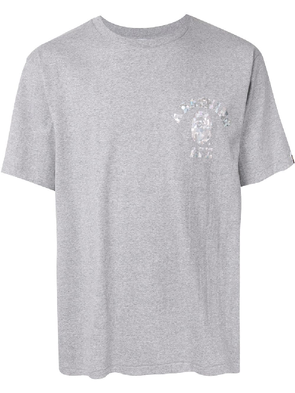 Bape Aurora College T-shirt In Grey