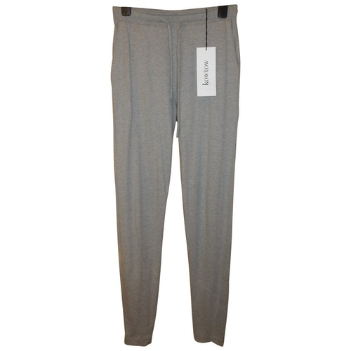Kowtow Grey Cotton Trousers