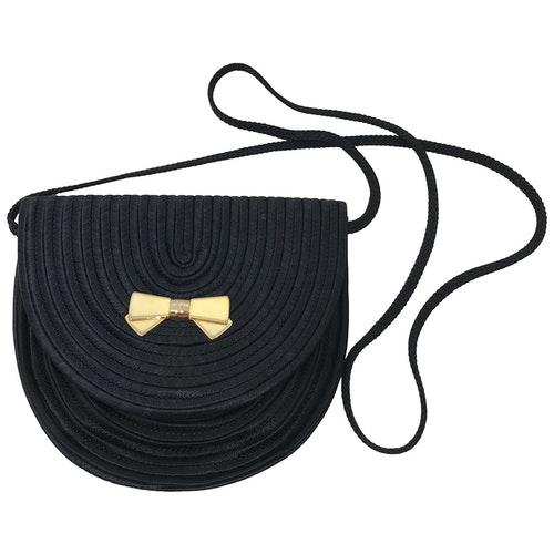 Nina Ricci Black Silk Handbag