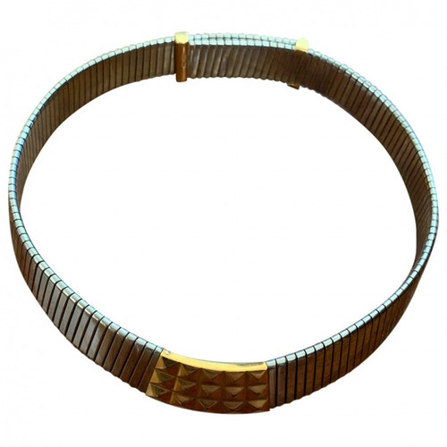 Bvlgari Tubogas Silver Gold And Steel Necklace