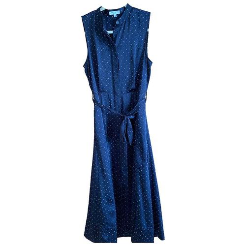 Equipment Blue Silk Dress