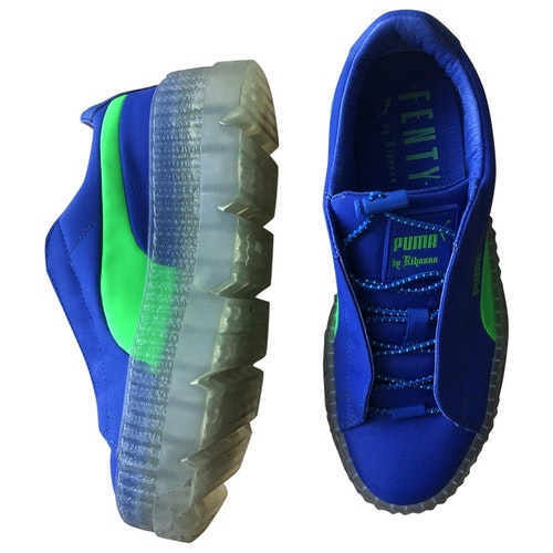Fenty X Puma Blue Cloth Trainers