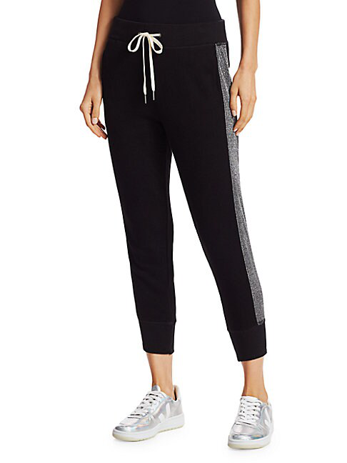N:philanthropy Barkley Cropped Joggers In Black