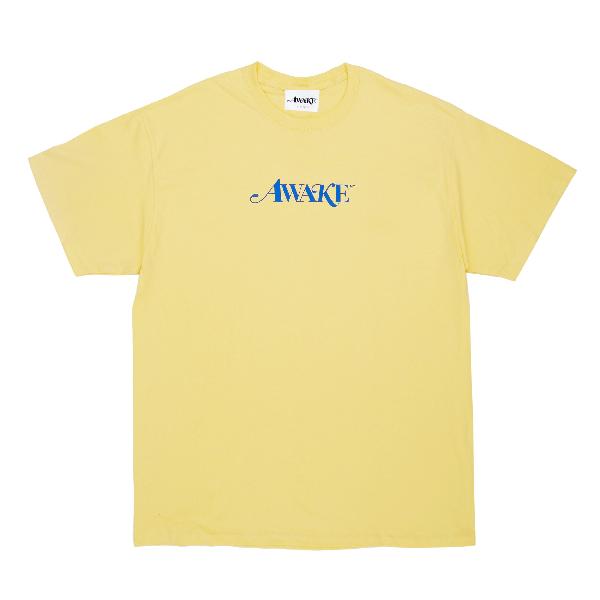 Awake Classic Logo Tee Light Yellow