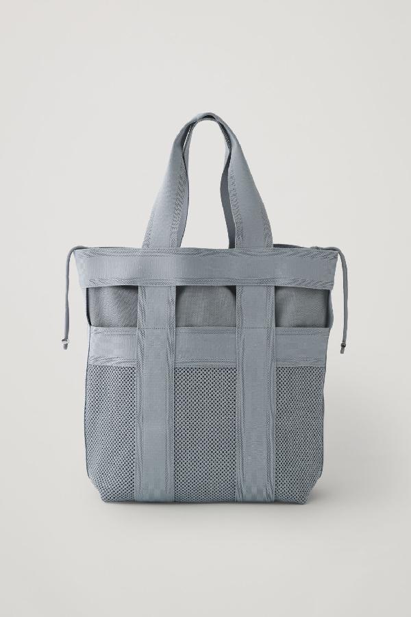 Cos Strap Detail Shopper In Grey