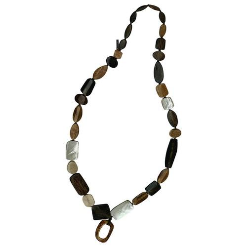 Monies Brown Horn Long Necklace