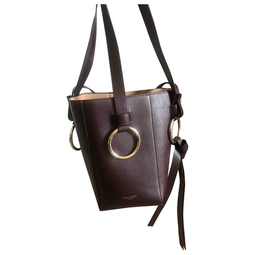 Nina Ricci Burgundy Leather Handbag