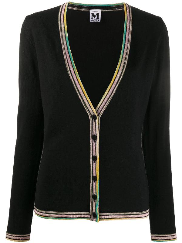 Missoni 2000s Rainbow Detailing Cardigan In Black