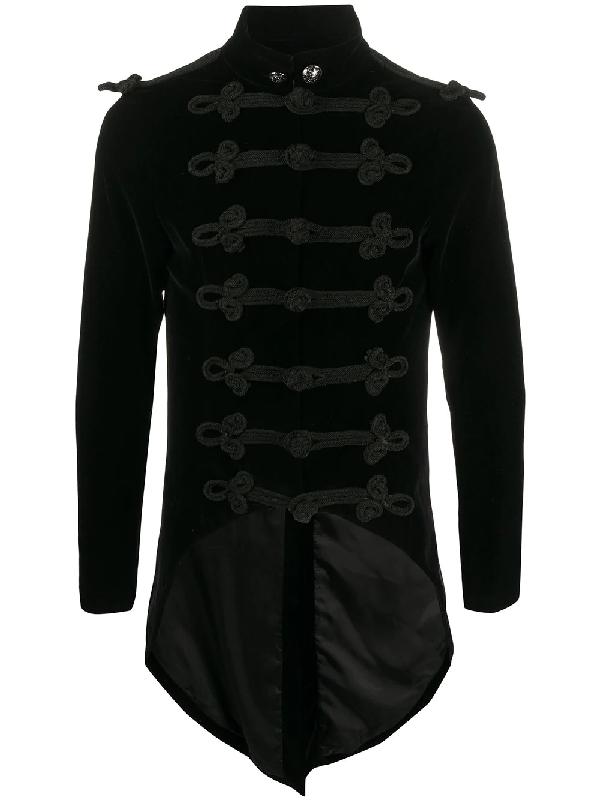 A.n.g.e.l.o. Vintage Cult 1990s Elongated Back Military Jacket In Black
