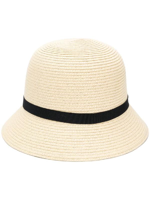 Polo Ralph Lauren Grosgrain Bucket Hat In Neutrals