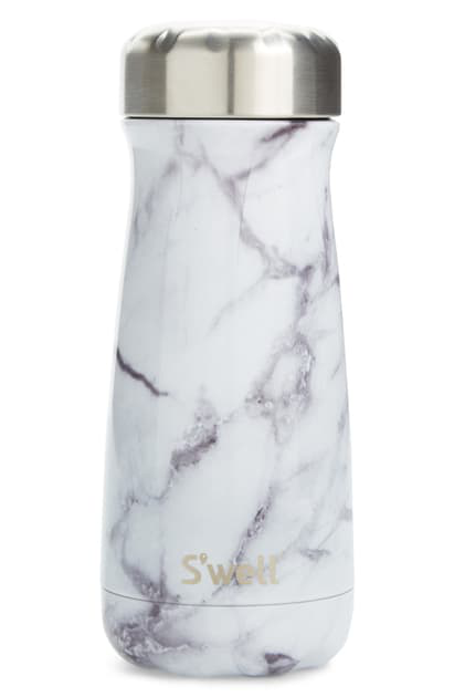 S'well Traveler White Marble 16-ounce Insulated Stainless Steel Water Bottle