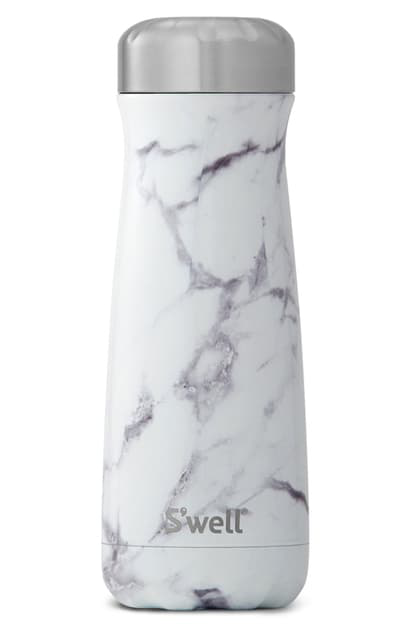 S'well Traveler White Marble Insulated Stainless Steel Water Bottle