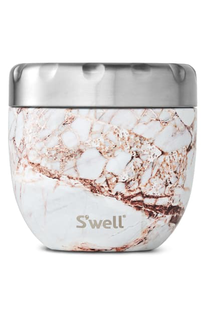 S'well Calacatta Gold Eats(tm) Insulated Stainless Steel Bowl & Lid