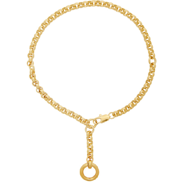 Laura Lombardi Gold Rina Necklace In Brass