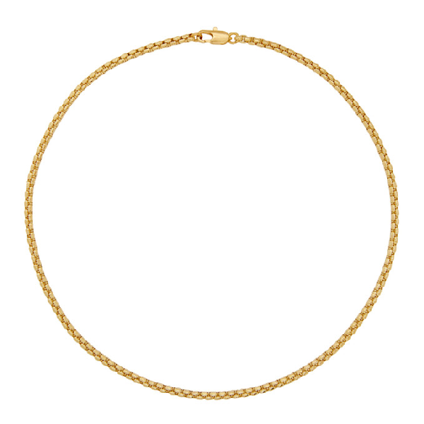 Laura Lombardi Gold Box Chain Necklace In Brass