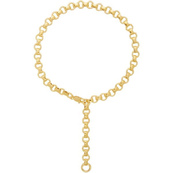 Laura Lombardi Gold Franca Chain Necklace In Brass