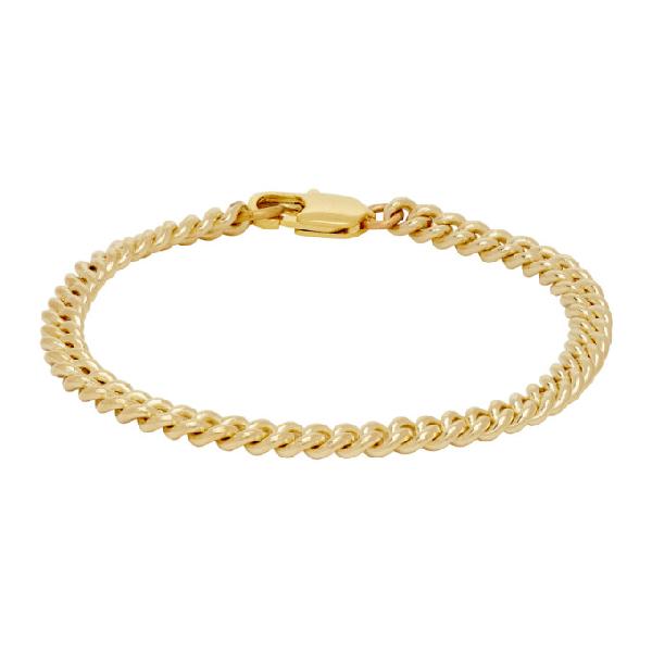 Laura Lombardi Gold Curb Chain Bracelet In Brass