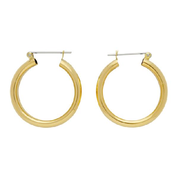 Laura Lombardi Gold Band Earrings In Brass