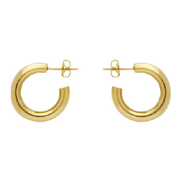 Laura Lombardi Gold Medium Hoop Earrings In Brass