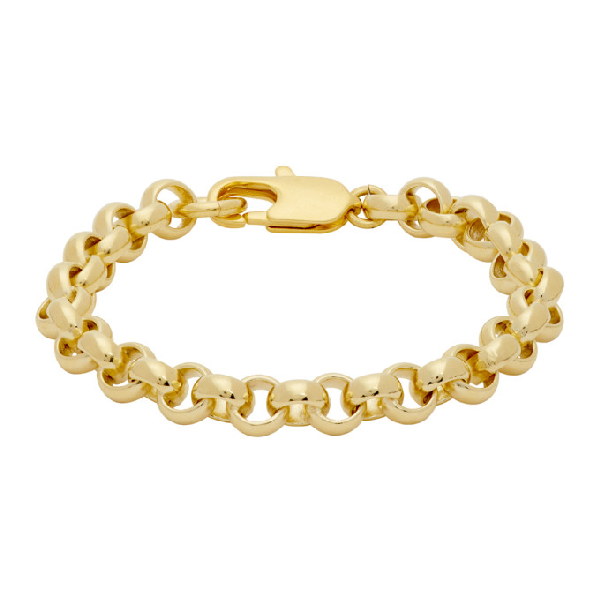 Laura Lombardi Gold Rolo Bracelet In Brass