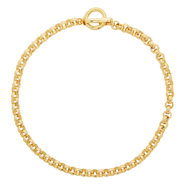 Laura Lombardi Gold Isa Chain Necklace In Brass