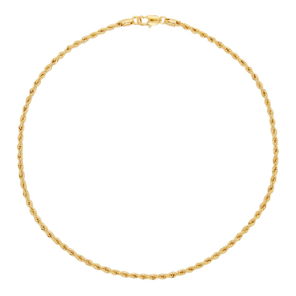 Laura Lombardi Gold Rope Chain Necklace In Brass