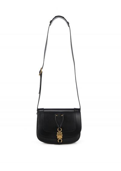 Valentino Garavani Small Saddle Shoulder Bag In Black