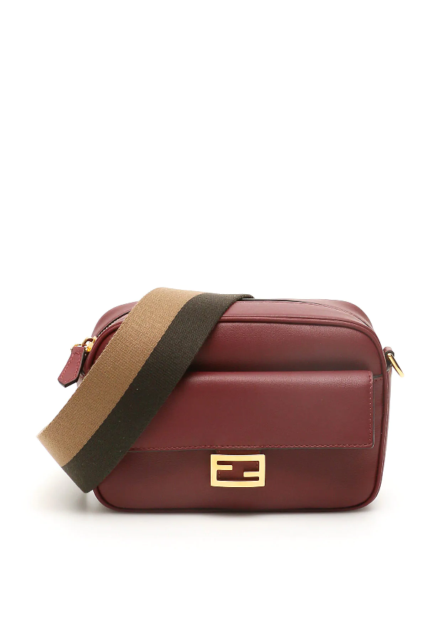 Fendi Baguette Camera Bag In Purple,red