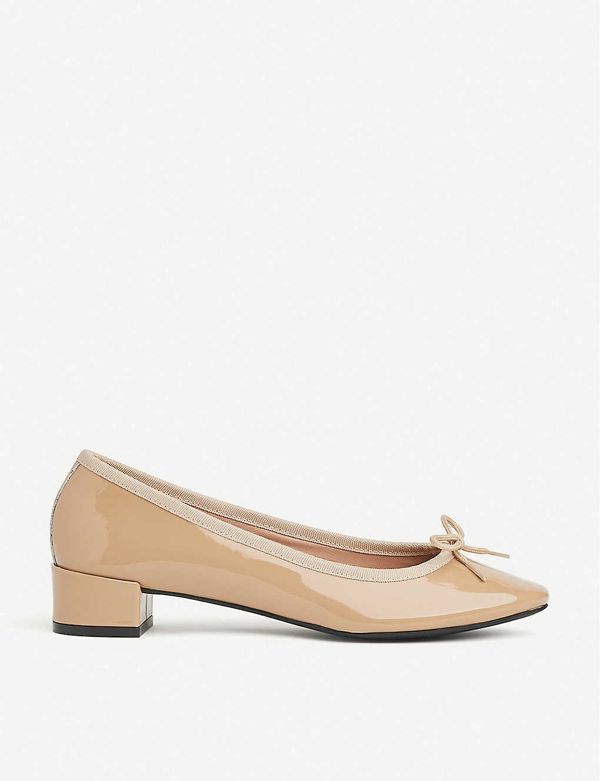 Lk Bennett Preston Patent Leather Ballerina Flats In Bei-trench