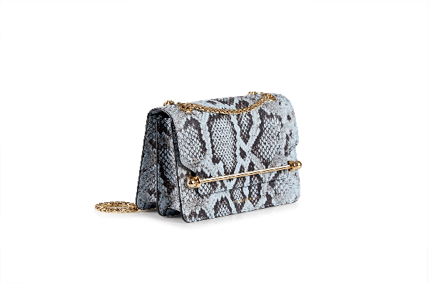Ss20 East/west Mini In Embossed Snake Illusion Blue