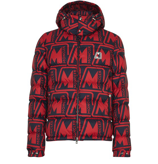 Moncler Frioland Slim-fit Logo-print Quilted Shell Down Hooded Jacket In Red